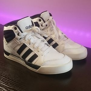 White Adidas High Top Sneakers